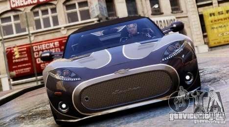 Spyker C8 Aileron Spyder Final для GTA 4 вид сбоку
