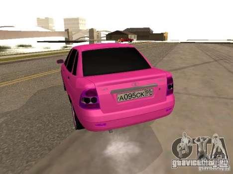 Лада Приора Эмо для GTA San Andreas вид сзади слева