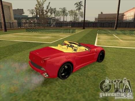 Ferrari California для GTA San Andreas вид справа
