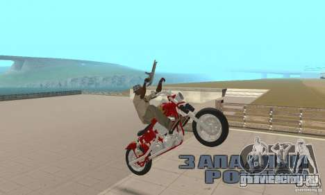 Orange County old school chopper Sunshine для GTA San Andreas вид справа