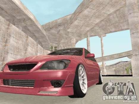 Lexus IS300 HellaFlush для GTA San Andreas вид изнутри