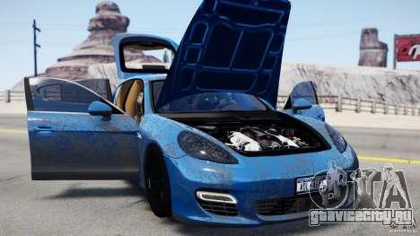 Porsche Panamera Turbo 2010 Black Edition для GTA 4 вид слева