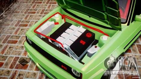 Volkswagen Golf II W8 для GTA 4 вид изнутри