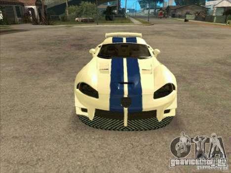 Dodge Viper from MW для GTA San Andreas вид сзади