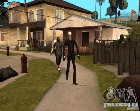 Слендер в темных очках для GTA San Andreas шестой скриншот
