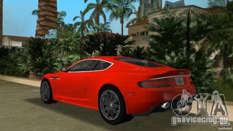 Aston Martin DBS V12 для GTA Vice City вид сзади слева