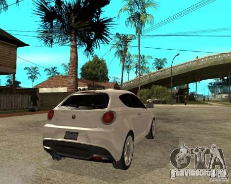 Alfa Romeo Mito для GTA San Andreas вид сзади слева