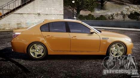BMW M5 E60 2009 для GTA 4 вид слева