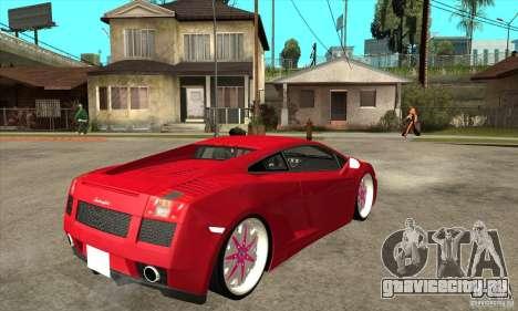 Lamborghini Gallardo White & Pink для GTA San Andreas вид справа