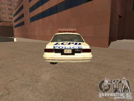 Полиция из гта4 для GTA San Andreas вид сзади слева