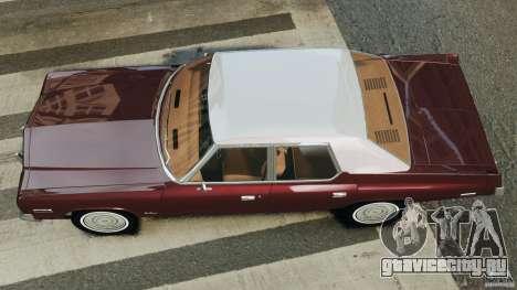 Dodge Monaco 1974 v1.0 для GTA 4 вид справа