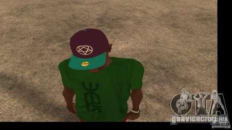 Кепка с логотипом группы HIM для GTA San Andreas второй скриншот