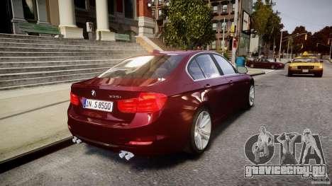 BMW 335i 2013 v1.0 для GTA 4 вид снизу
