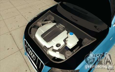 Audi S4 2009 для GTA San Andreas вид снизу