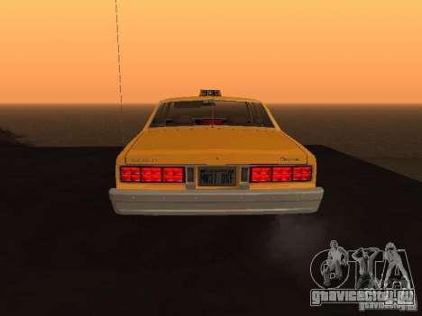 Chevrolet Caprice 1986 Taxi для GTA San Andreas вид справа