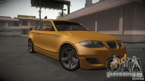 BMW 135i Coupe Road Edition для GTA San Andreas вид сзади