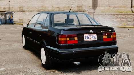 Volkswagen Passat B4 для GTA 4 вид сзади слева