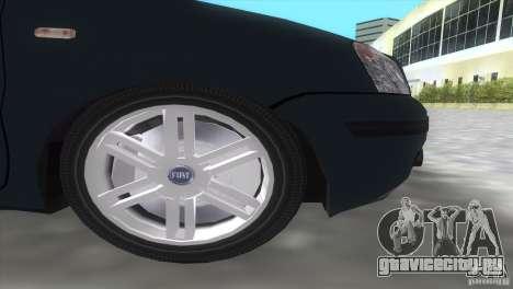 Fiat Panda 2004 для GTA Vice City вид сзади