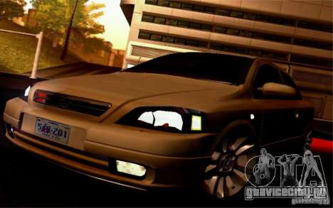 Opel Astra G 2.0 1.6V для GTA San Andreas вид сзади