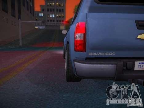 Chevrolet Silverado для GTA San Andreas салон