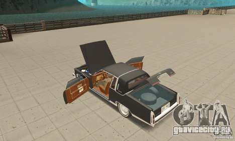Cadillac Coupe DeVille 1985 для GTA San Andreas вид изнутри