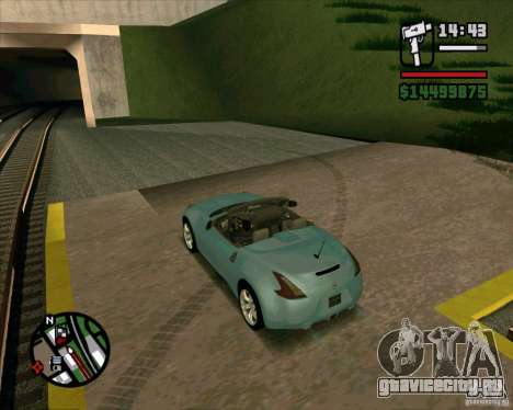 Nissan 370Z Roadster для GTA San Andreas вид слева