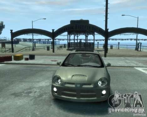 Dodge Neon 02 SRT4 для GTA 4 вид сзади