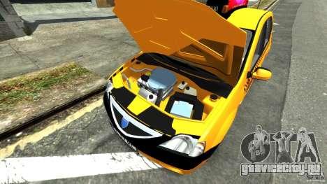 Dacia Logan Prestige Taxi для GTA 4 вид сзади