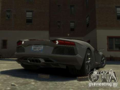 Lamborghini Aventador LP700-4 EPM для GTA 4 вид справа