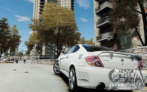 Hyundai Tuscani для GTA 4 вид слева