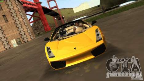 Lamborghini Gallardo SE для GTA San Andreas вид справа