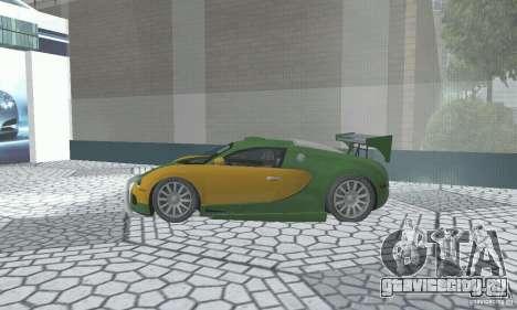 Bugatti Veyron 2005 для GTA San Andreas вид справа