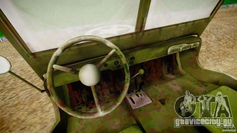Jeep Willys [Final] для GTA 4 вид сзади