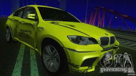 BMW X6M E71 v2 для GTA San Andreas вид сбоку