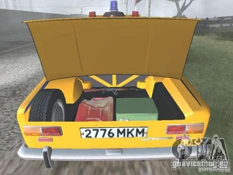 ВАЗ 21016 ГАИ для GTA San Andreas вид сбоку