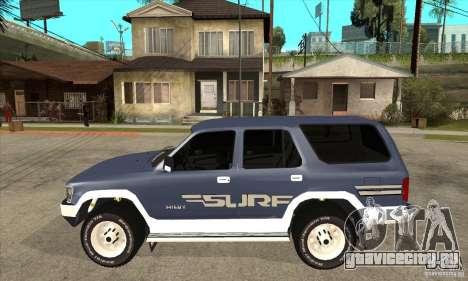 Toyota Surf v1.0 для GTA San Andreas вид слева