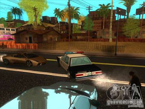 Dodge Diplomat 1985 LAPD Police для GTA San Andreas вид сзади слева