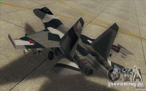 Су-35 БМ v2.0 для GTA San Andreas вид снизу