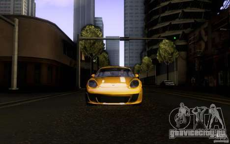 Ruf RK Coupe V1.0 2006 для GTA San Andreas вид сверху