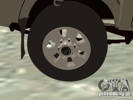 Nissan Frontier для GTA San Andreas вид сверху