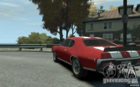 Pontiac GTO Hardtop 1968 v1 для GTA 4 вид сзади слева