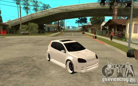 VW Golf 5 GTI Tuning для GTA San Andreas вид сзади