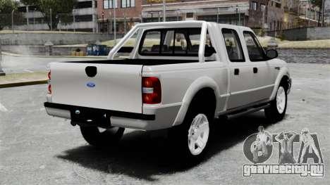 Ford Ranger 2008 XLR для GTA 4 вид сзади слева