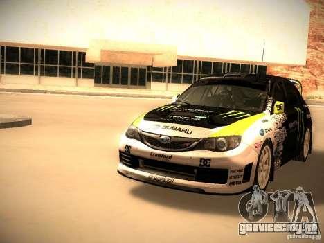 Subaru Impreza Gymkhana для GTA San Andreas вид слева