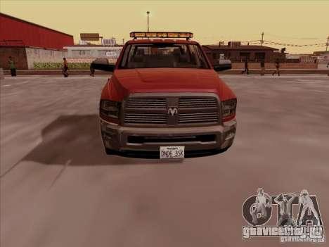 Dodge Ram 3500 TowTruck 2010 для GTA San Andreas вид слева