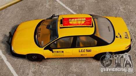 Dodge Intrepid 1993 Taxi для GTA 4 вид справа