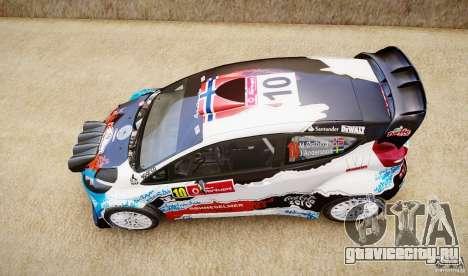 Ford Fiesta RS WRC для GTA 4 вид справа