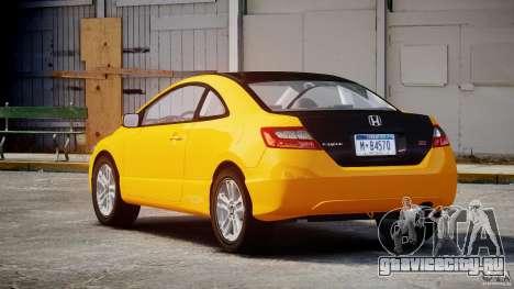 Honda Civic Si Coupe 2006 v1.0 для GTA 4 вид сверху