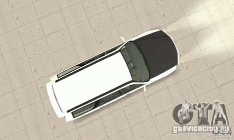 Nissan Stagea GTR для GTA San Andreas вид изнутри