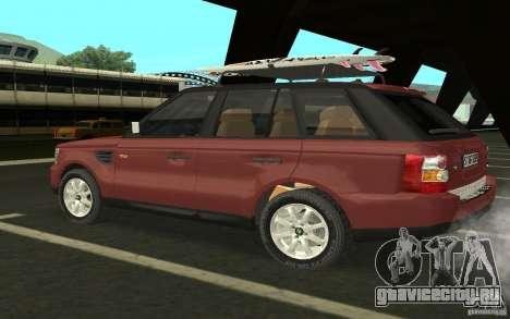 Land Rover Range Rover 2007 для GTA San Andreas вид справа